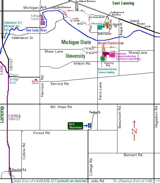 Contact Us - Interactive map msu